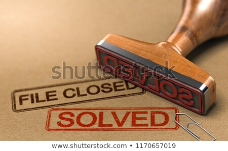 closed concept with word on folder stock photo © tashatuvango