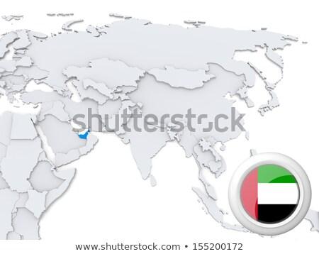 Verenigde Arabische Emiraten Laos vlaggen puzzel geïsoleerd witte Stockfoto © Istanbul2009