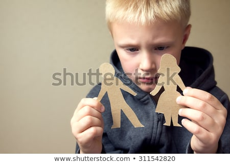 válás · gyermek · őrizet · boldogtalan · család · csata - stock fotó © lightsource