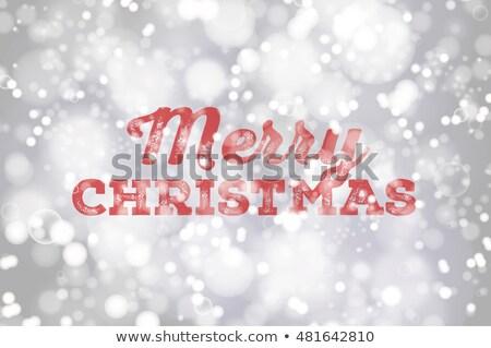 Allegro Natale rosso sfondo bianco neve Foto d'archivio © smeagorl