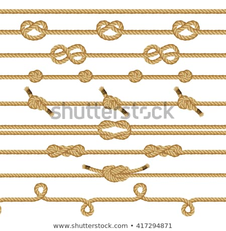 Overhand rope knot Stock photo © Aikon
