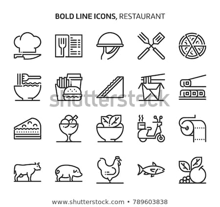 french food vector icons set Stock photo © Galyna