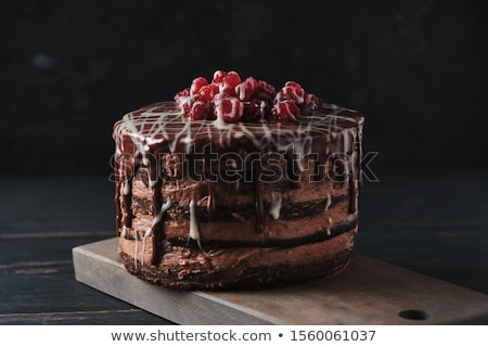 Delicious chocolate cakes with cherry close-up Stock photo © vlad_star