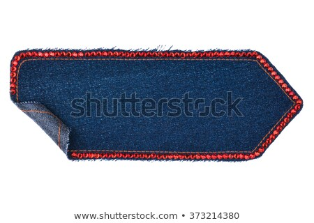 Frame is made from denim with blue rhinestones, isolated  Stock photo © alekleks