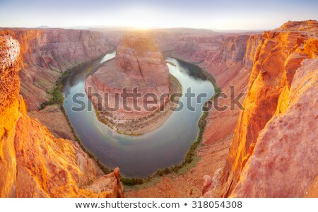 подкова · страница · Аризона · пейзаж · зеленый - Сток-фото © andreykr