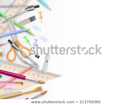 Okul malzemeleri ahşap eps 10 vektör dosya Stok fotoğraf © beholdereye
