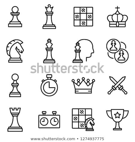 vector set of chess pieces icons stock photo © freesoulproduction