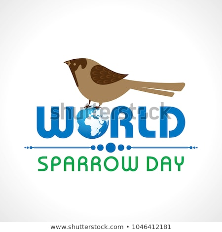 Card for world sparrow day- March 20  Stock photo © shawlinmohd