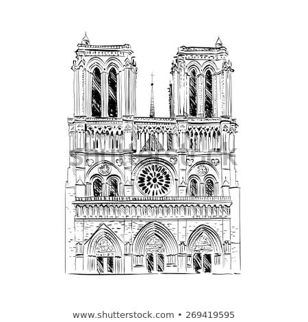 Fragment of Notre-Dame de Paris, France Stock photo © meinzahn
