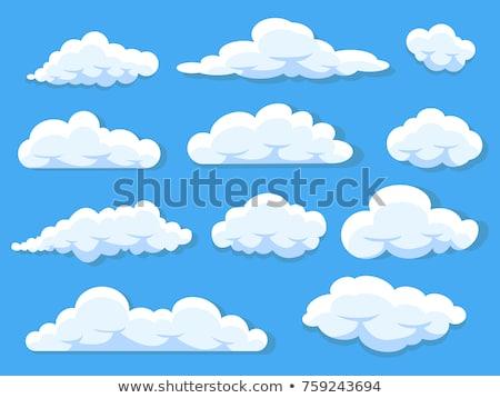 vektor · átláthatóság · gradiens · felhők · szett · kék - stock fotó © romvo