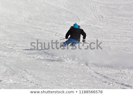 Esqui esquiar recorrer esquiador rápido movimento Foto stock © zurijeta