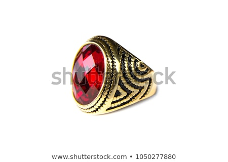 ancient gold ring with ruby  Stock photo © OleksandrO
