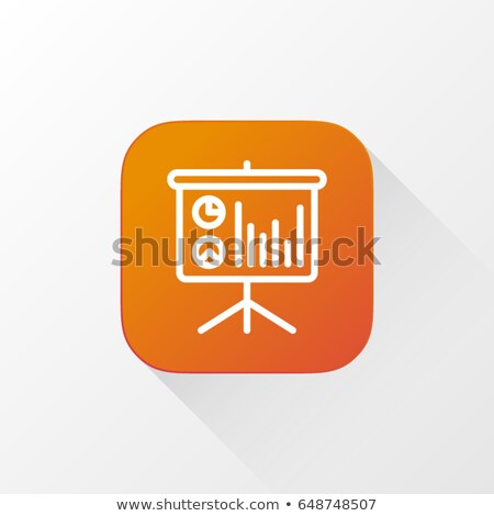 Statistics icon. Button Design. Stock photo © WaD