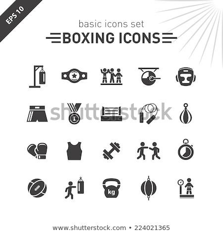 boxing icon set stock photo © ayaxmr