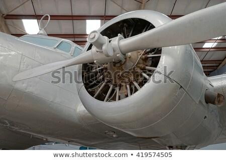 Repülőgép levegő űr múzeum természet sivatag Stock fotó © meinzahn