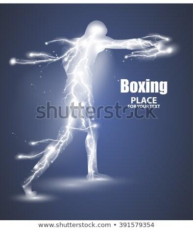 Résumé boxe battant foudre vecteur Photo stock © Samoilik
