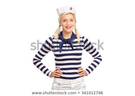 Smiling female sailor posing. Stock photo © NeonShot