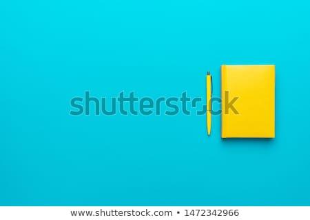 ペン · 黄色 · 青 · オフィス · 学校 · 背景 - ストックフォト © mayboro1964