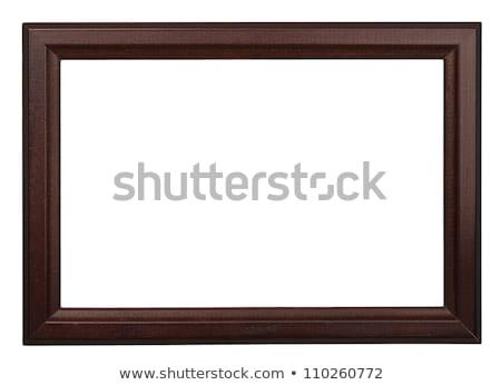 ブラウン 画像フレーム 孤立した 白 写真 ストックフォト © plasticrobot