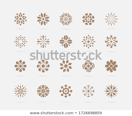 flower symbols set stock photo © pakete