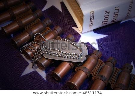 Csillagok csíkok zenekar amerikai zászló kék piros Stock fotó © user_9834712