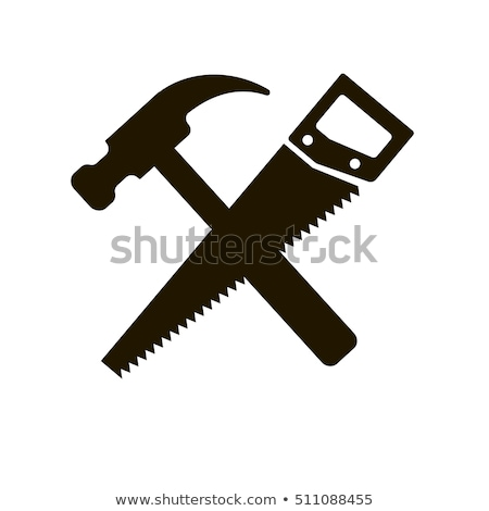 hammer and a saw icon stock photo © romvo