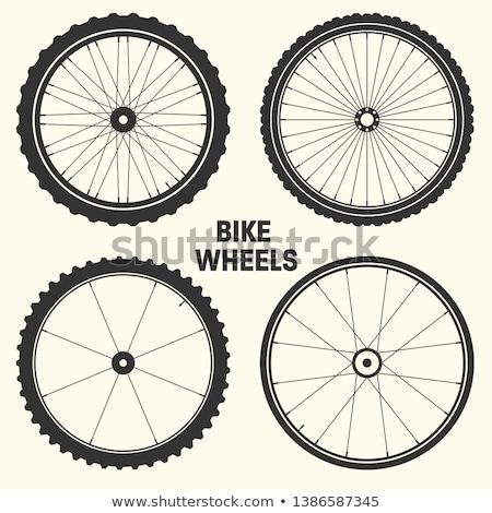 аннотация · Vintage · велосипед · плакат · карта · горные - Сток-фото © rastudio