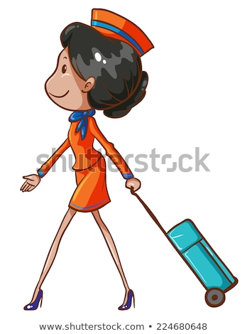 A simple sketch of a flight attendant Stock photo © bluering