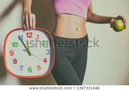 Fit Woman Showing Perfect Abs Stock photo © kentoh