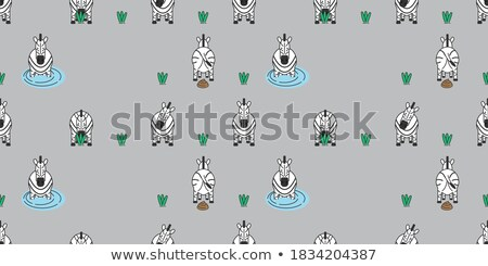 seamless background with cute poo cartoon Stock photo © cienpies