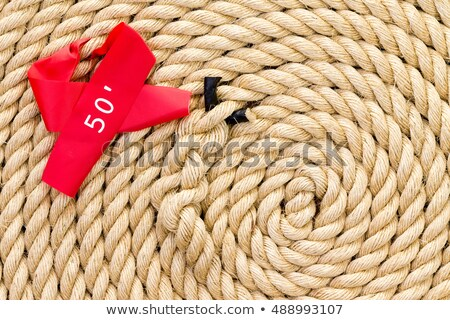New strong rope with red marker for a tug of war Stock photo © ozgur