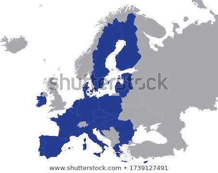ヨーロッパの 組合 黒 シルエット 孤立した 白 ストックフォト © Evgeny89