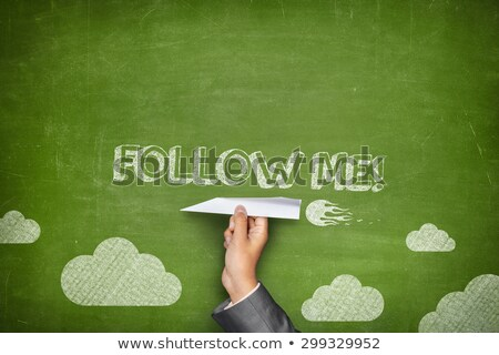 Follow Me Blackboard Concept Stock photo © ivelin