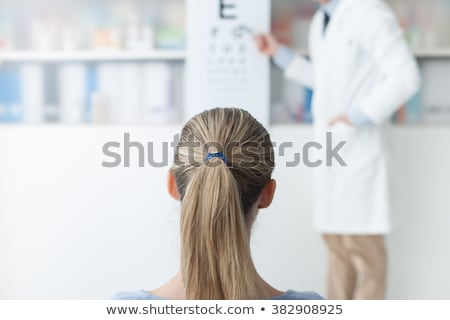 Eye Chart Woman Stock photo © AlphaBaby