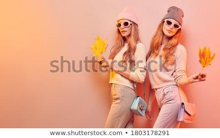 sorridere · bella · autunno · stile · moda - foto d'archivio © NeonShot
