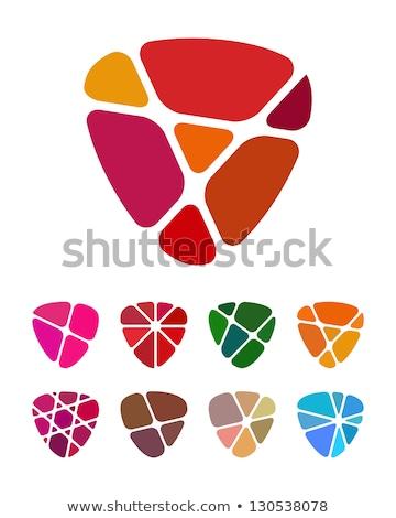 Kształt serca streszczenie cenny wzór fractal twórczej Zdjęcia stock © artfotodima