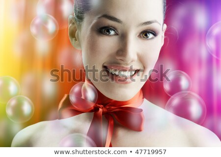 Stock photo: Very beautiful girl on the backstage