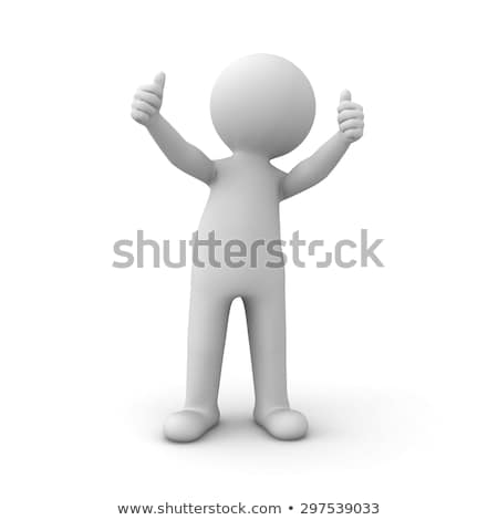 3d people   man person showing ok sign stock photo © orla