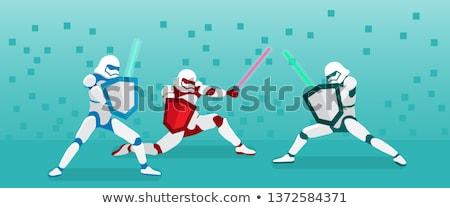 Harc fény kard vektor kéz kereszt Stock fotó © jiaking1