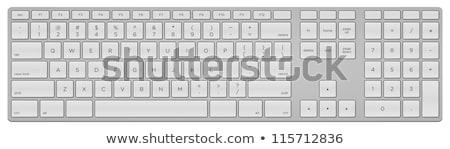 コンピュータのキーボード 私達について キー 技術 キーボード 連絡 ストックフォト © Oakozhan