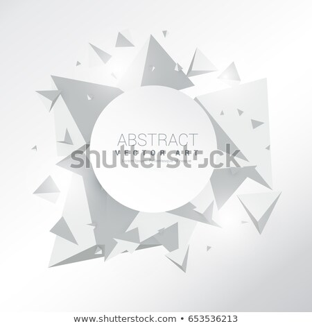 gray background with 3d floating polygons Stock photo © SArts