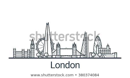 Londres Big Ben linéaire illustration léger ligne Photo stock © 5xinc