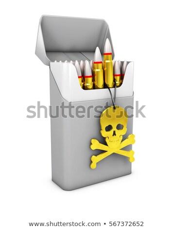 Photo stock: Illustration · gris · cigarette · Pack · crâne