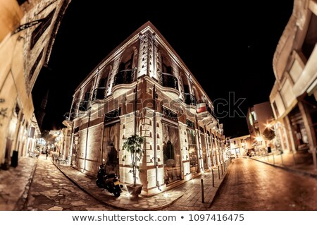 Limassol Old Town Street at night. Cyprus Stock photo © Kirill_M