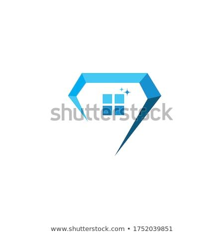 Elmas logo tasarımı 10 destek soyut dizayn Stok fotoğraf © sdCrea
