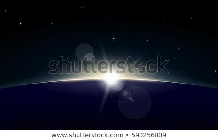 wektora · słońce · horyzoncie · obiektyw · plaży · niebo - zdjęcia stock © swillskill