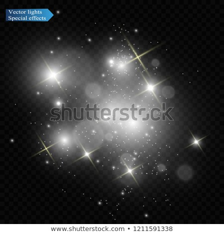 Red flash glitter and spark stars on transparent background Stock photo © orensila