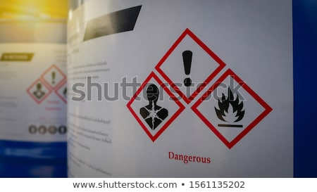 Rusty barrels with toxic chemical waste Stock photo © wellphoto