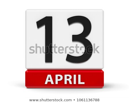 cubes 13th april stock photo © oakozhan