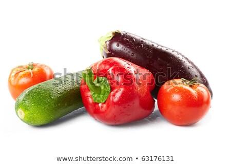Patlıcan gıda domates pişirme sebze yemek Stok fotoğraf © M-studio